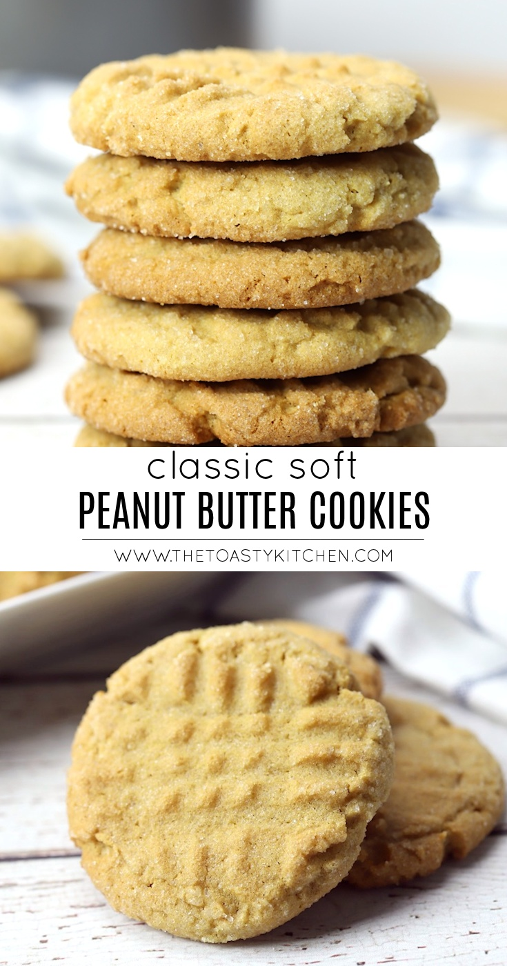 Soft Peanut Butter Cookies by The Toasty Kitchen