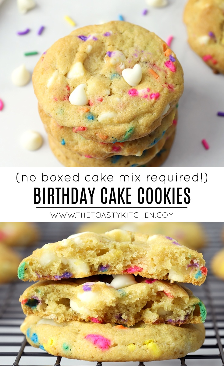 Birthday Cake Cookies by The Toasty Kitchen
