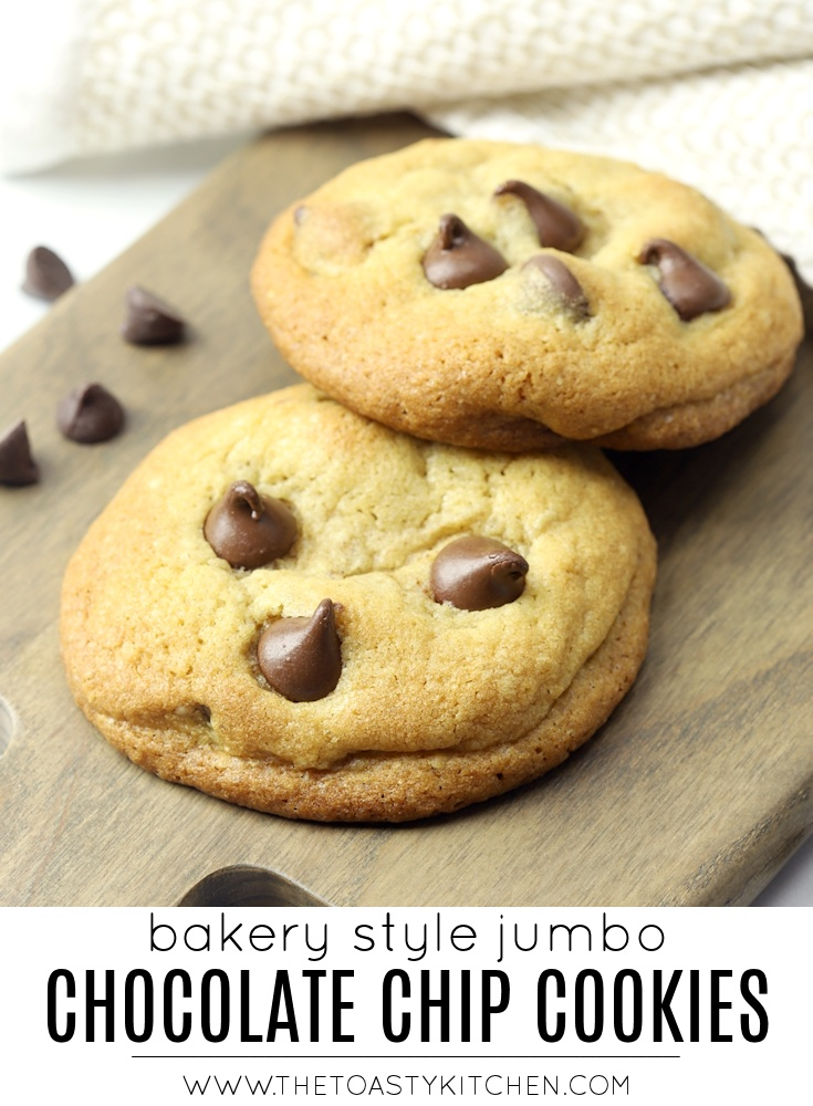 Bakery Style Chocolate Chip Cookies by The Toasty Kitchen