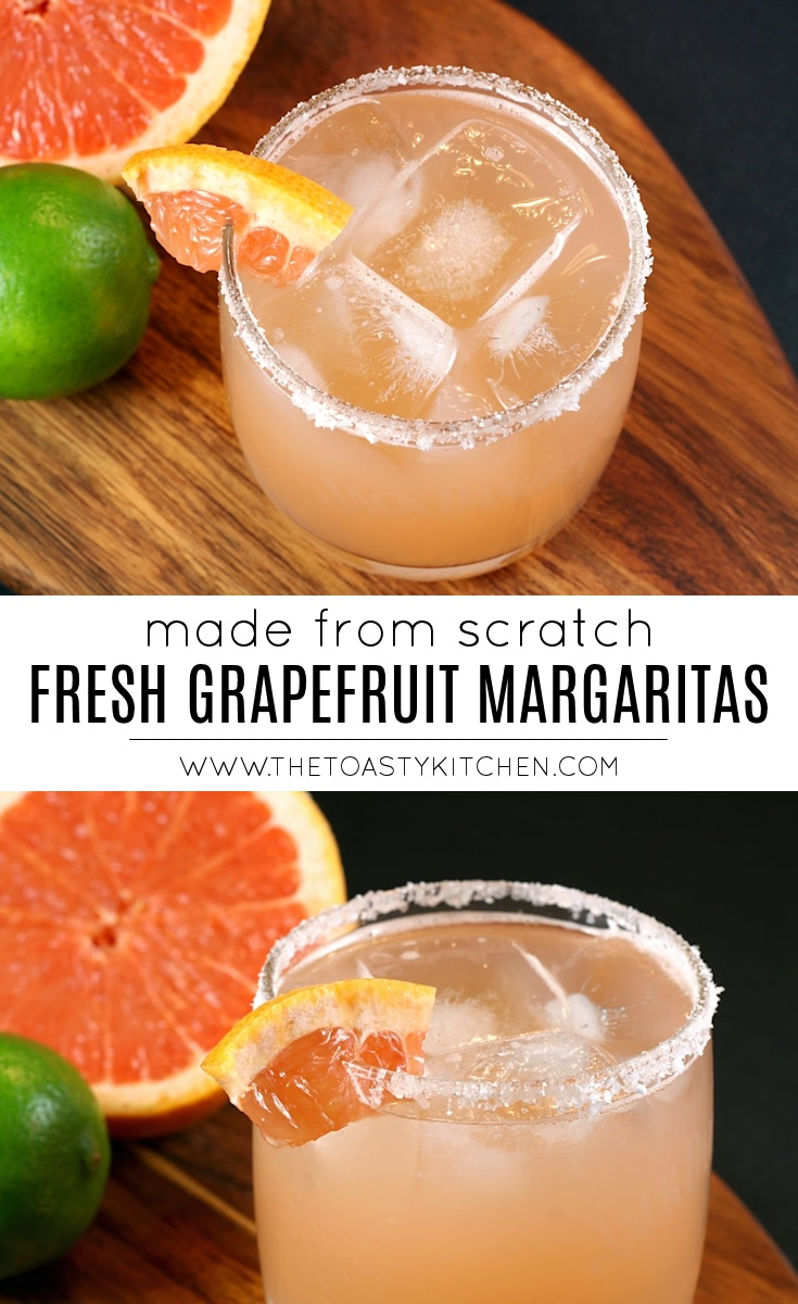 Fresh Grapefruit Margaritas by The Toasty Kitchen