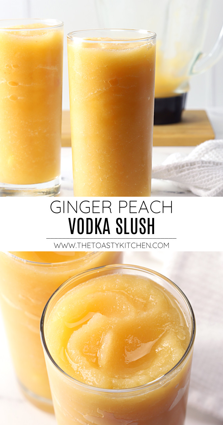 Ginger peach vodka slush recipe.