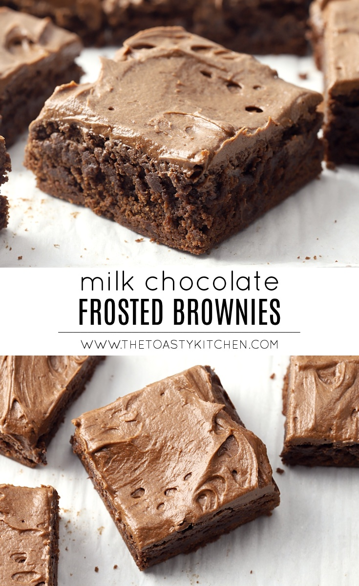 Milk Chocolate Frosted Brownies by The Toasty Kitchen