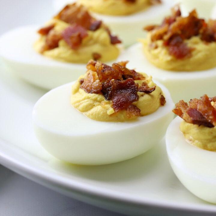 Bacon deviled eggs recipe.