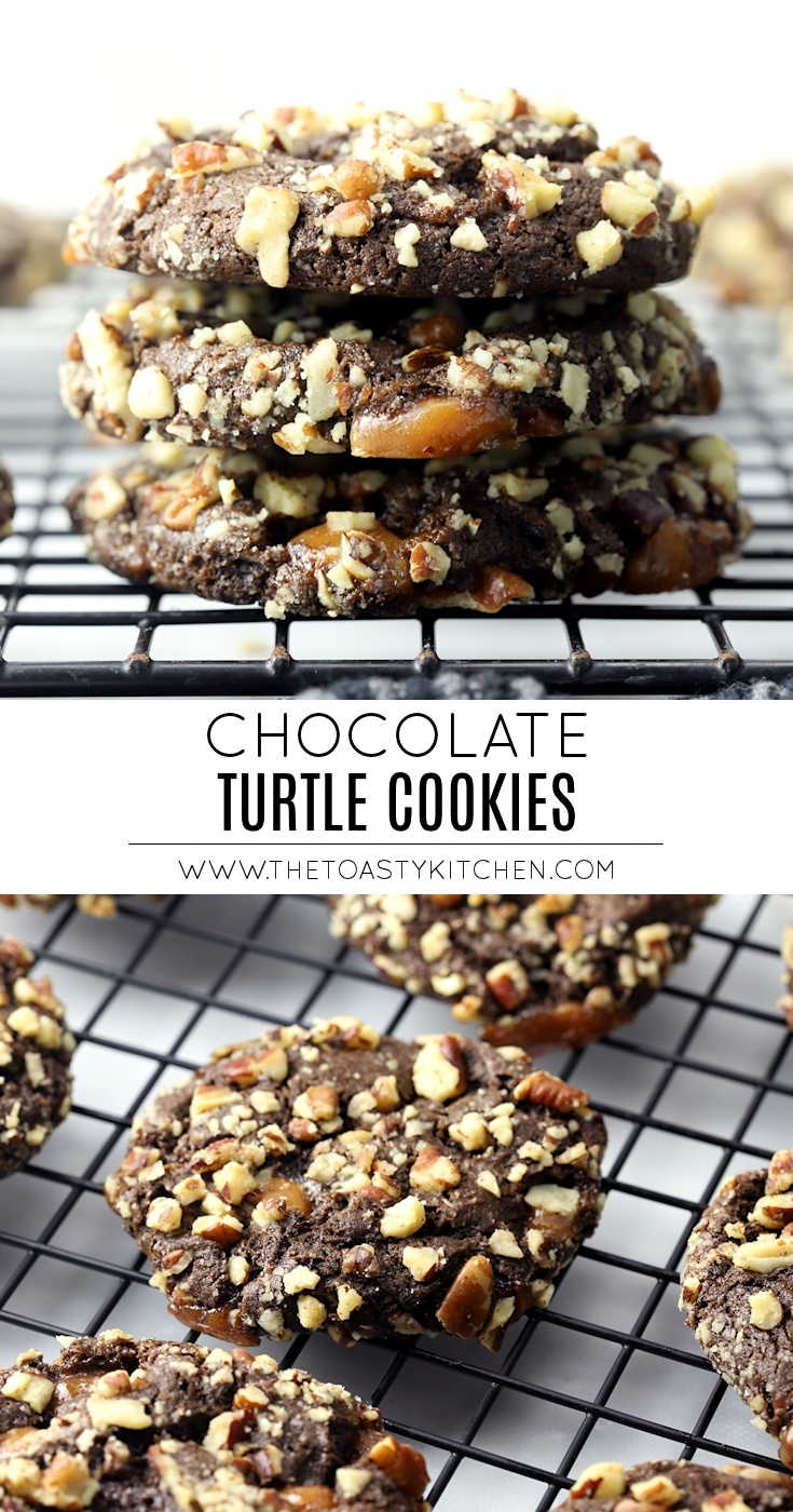 Chocolate Turtle Cookies by The Toasty Kitchen