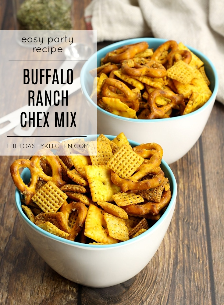 Buffalo Ranch Chex Mix by The Toasty Kitchen