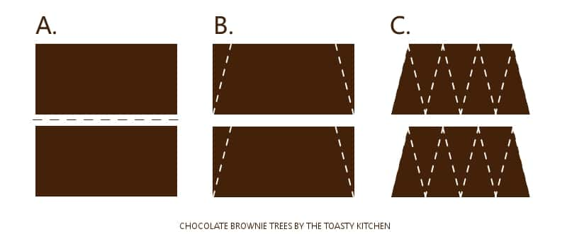 Chocolate Brownie Tree Cuts by The Toasty Kitchen