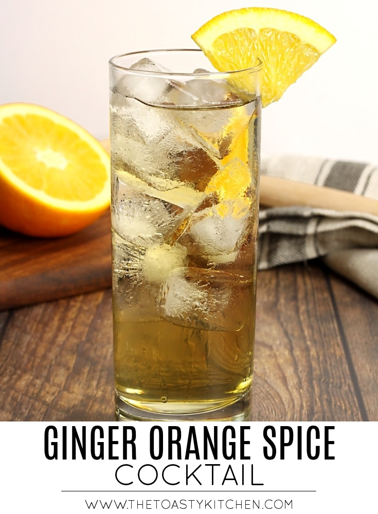Ginger Orange Spice Cocktail by The Toasty Kitchen