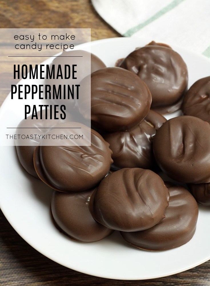 Homemade Peppermint Patties by The Toasty Kitchen