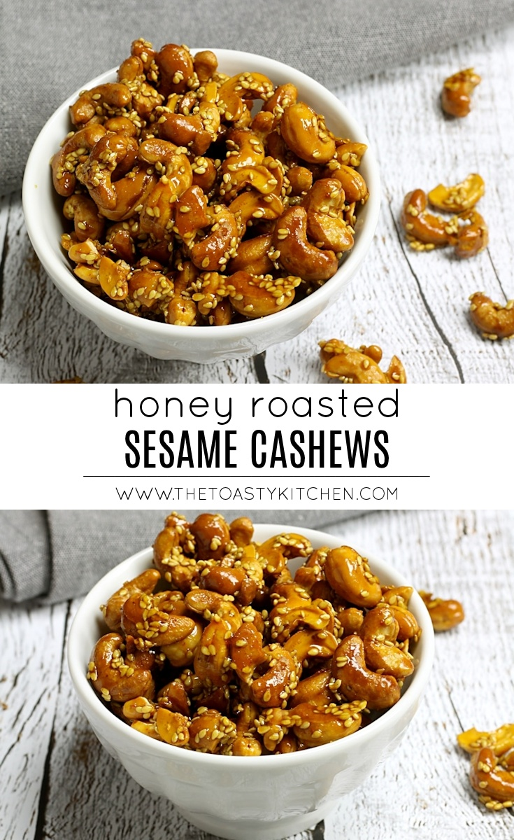 Honey Roasted Sesame Cashews by The Toasty Kitchen