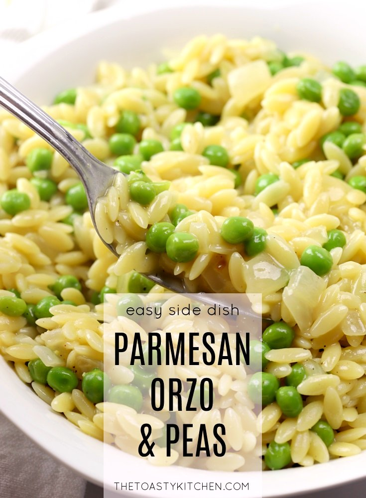 Parmesan Orzo and Peas by The Toasty Kitchen