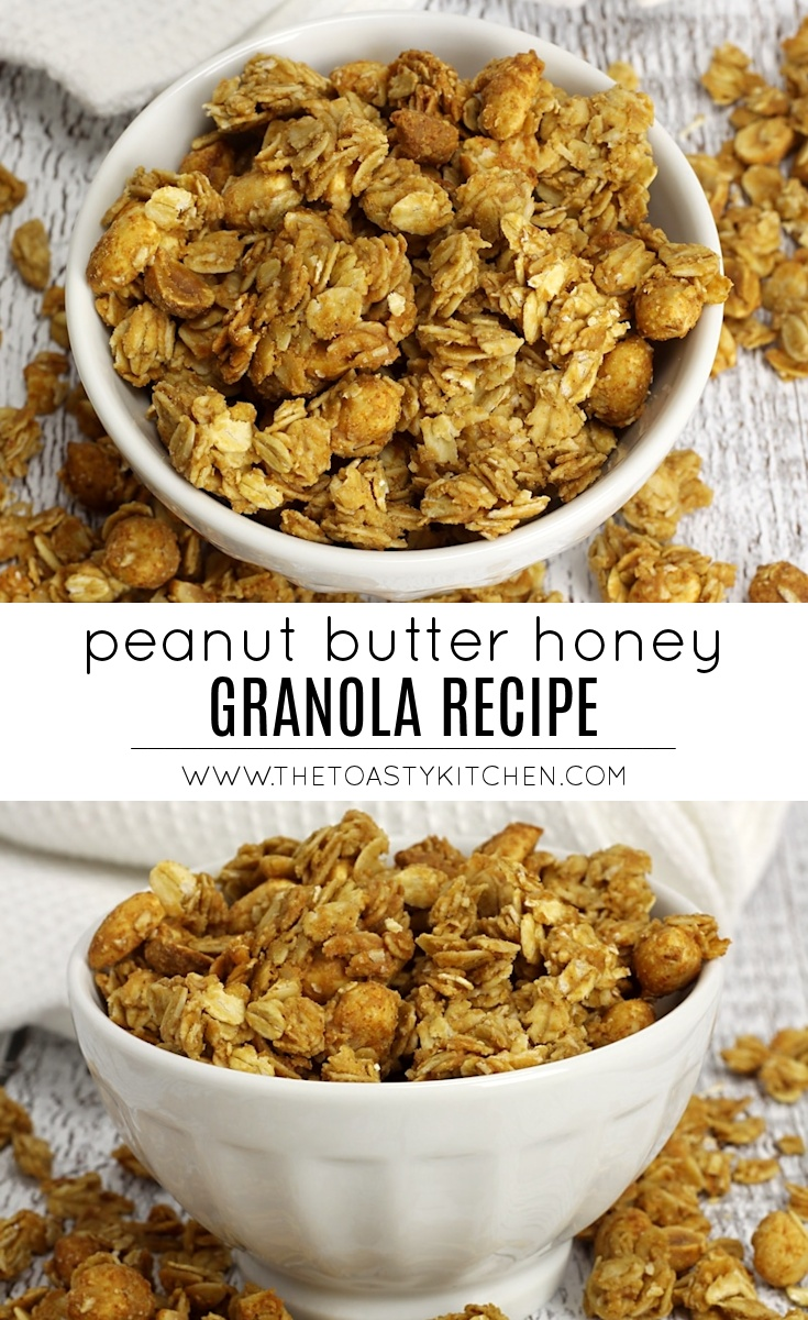 Peanut Butter Honey Granola by The Toasty Kitchen