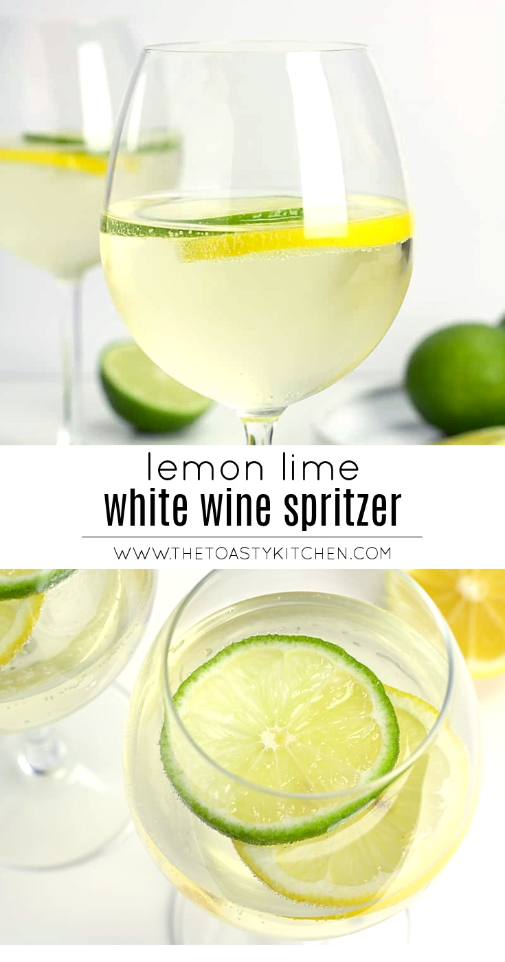 Lemon Lime Wine Spritzer by The Toasty Kitchen