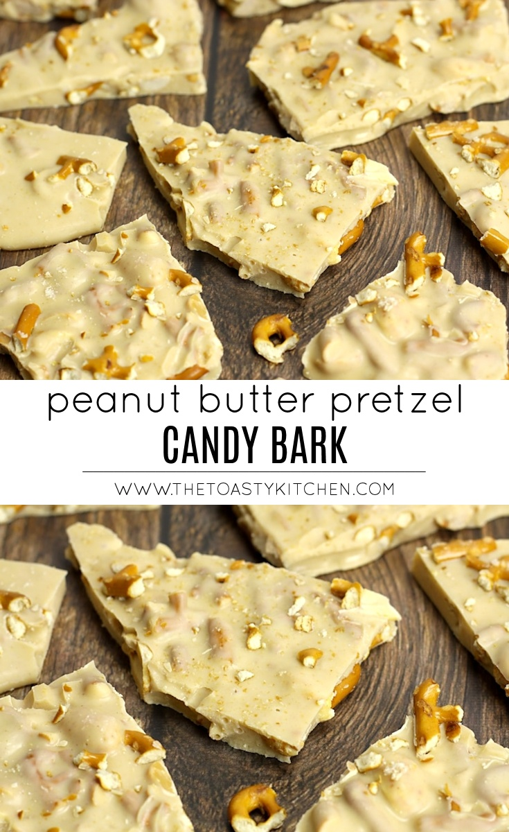 Peanut Butter Pretzel Candy Bark by The Toasty Kitchen