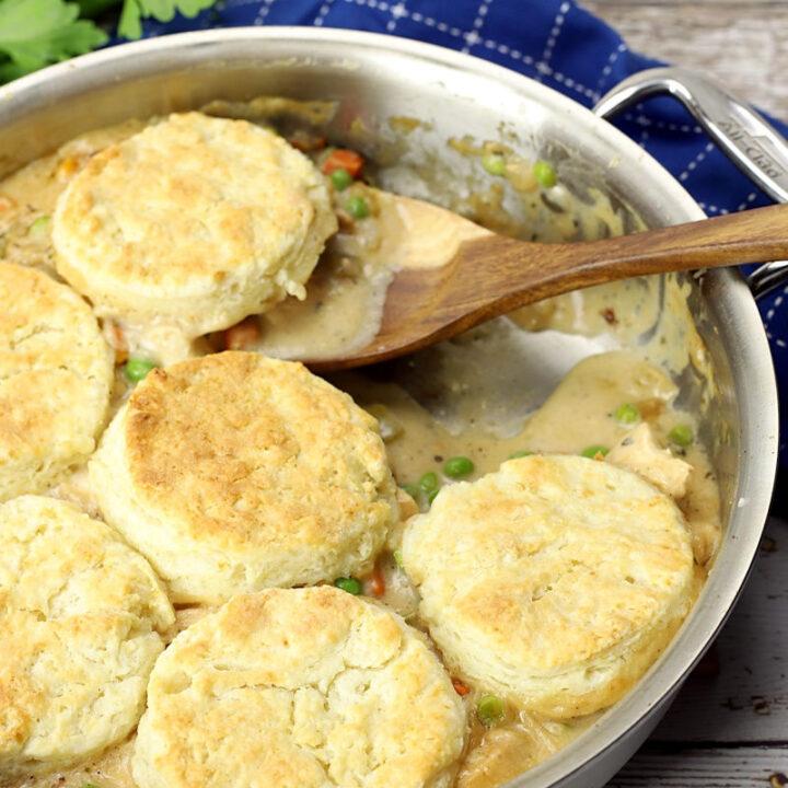 Chicken pot pie with biscuits recipe.
