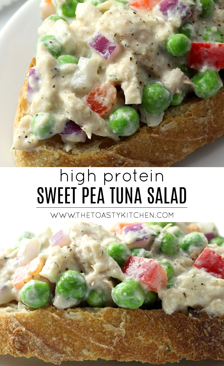 High Protein Sweet Pea Tuna Salad by The Toasty Kitchen