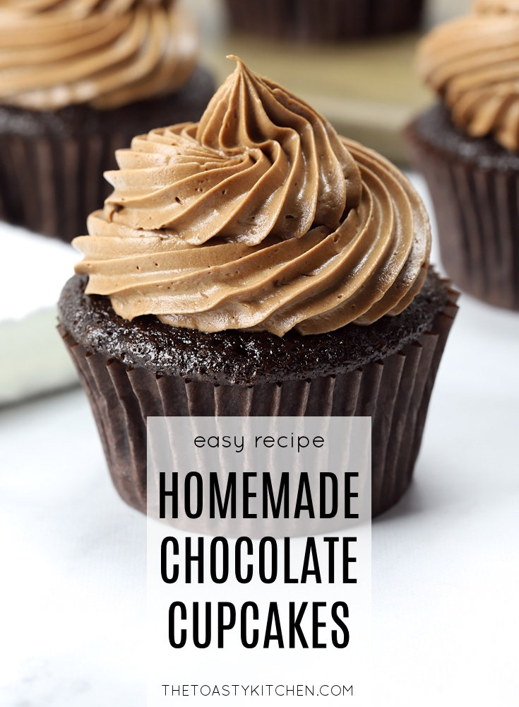 Homemade Chocolate Cupcakes by The Toasty Kitchen