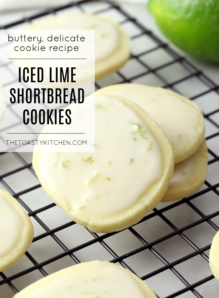 Iced Lime Shortbread Cookies by The Toasty Kitchen