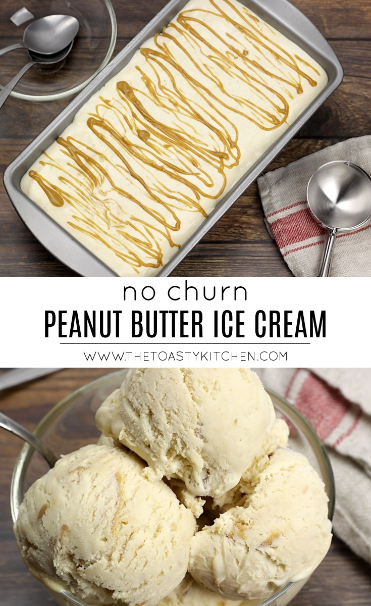 No Churn Double Peanut Butter Ice Cream by The Toasty Kitchen