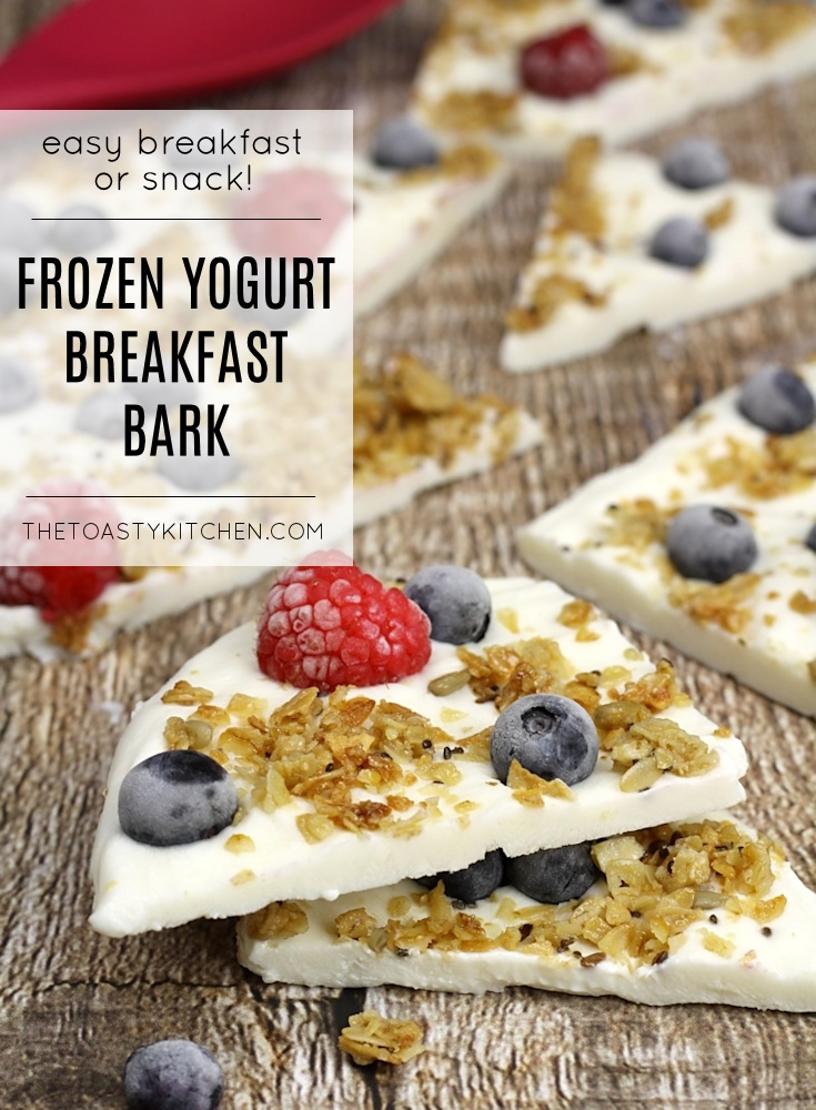 Frozen Yogurt Breakfast Bark by The Toasty Kitchen