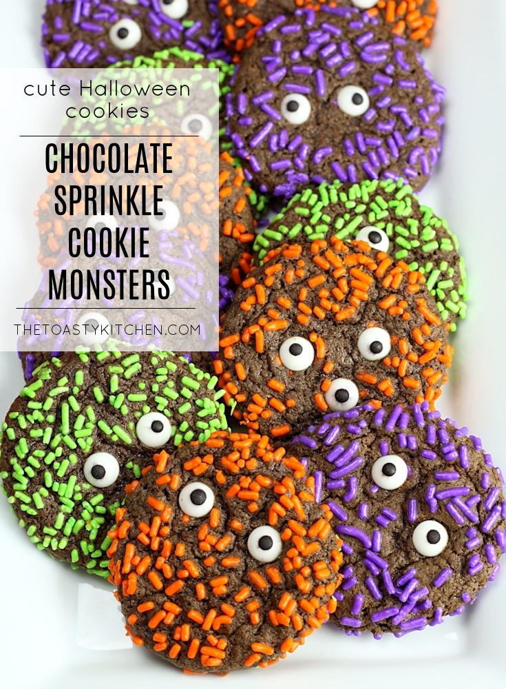 Chocolate Sprinkle Cookie Monsters by The Toasty Kitchen