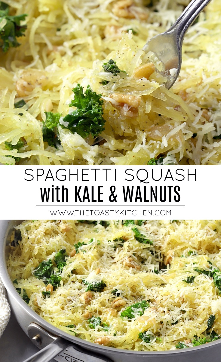 Spaghetti Squash with Kale and Walnuts by The Toasty Kitchen