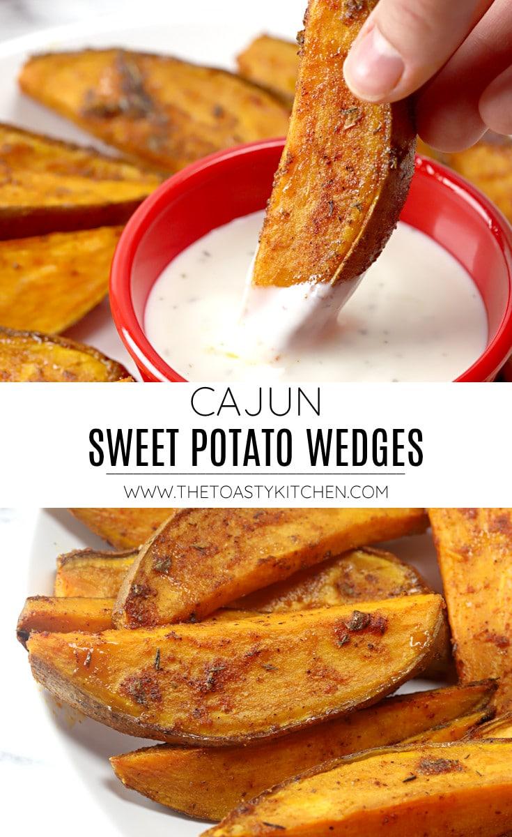 Cajun sweet potato wedges recipe.