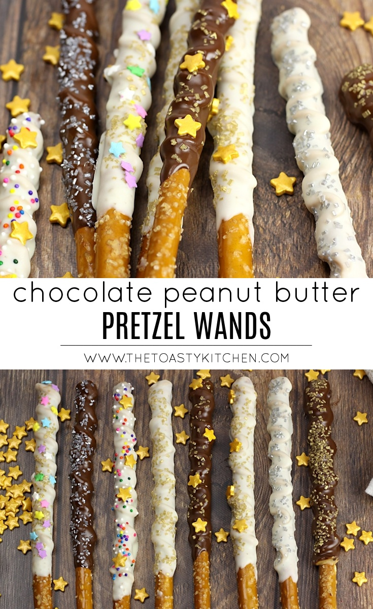 Chocolate Peanut Butter Pretzel Wands by The Toasty Kitchen