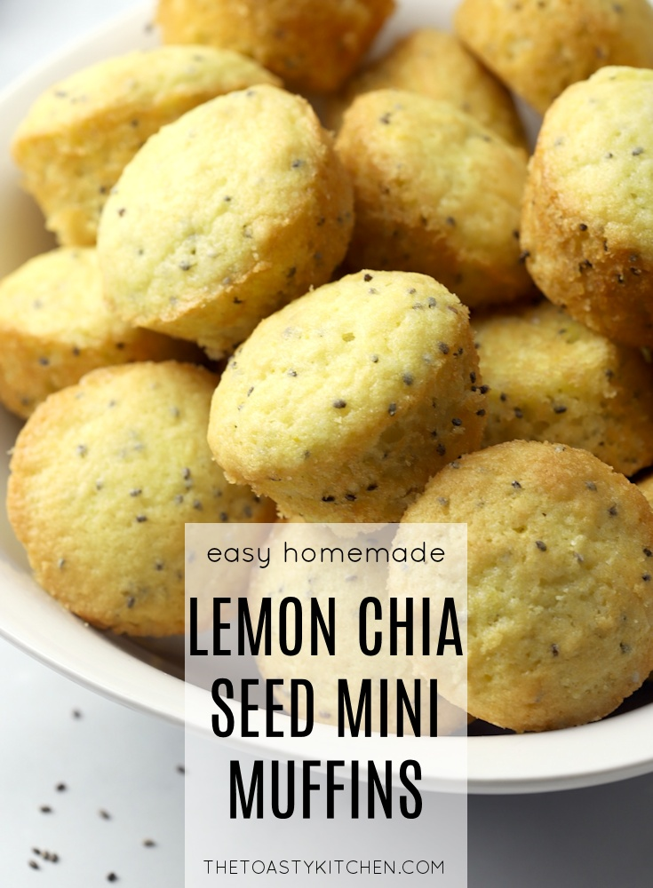 Lemon Chia Seed Mini Muffins by The Toasty Kitchen