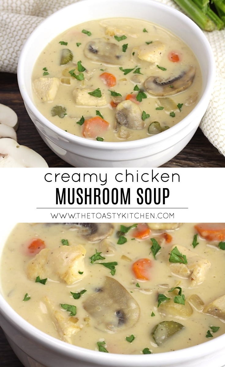 Creamy Chicken Mushroom Soup by The Toasty Kitchen