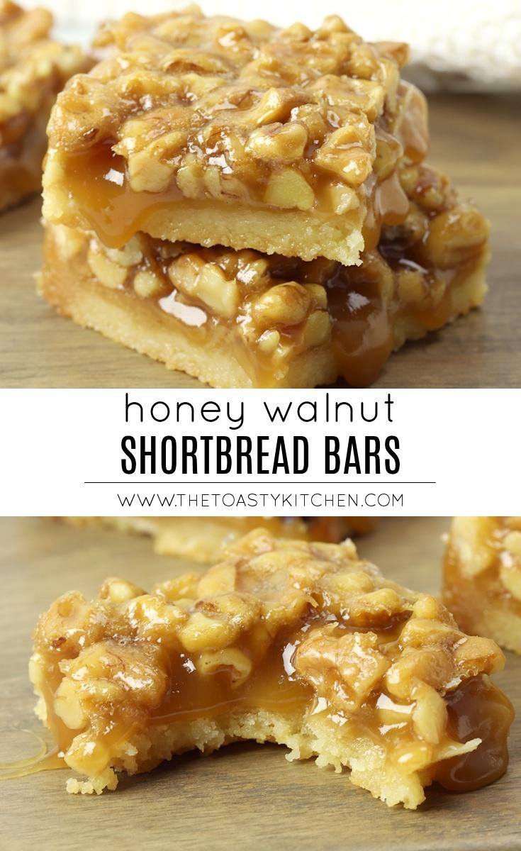 Honey Walnut Shortbread Bars by The Toasty Kitchen