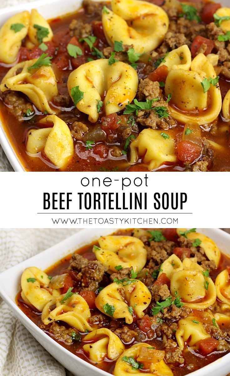 One Pot Beef Tortellini Soup by The Toasty Kitchen