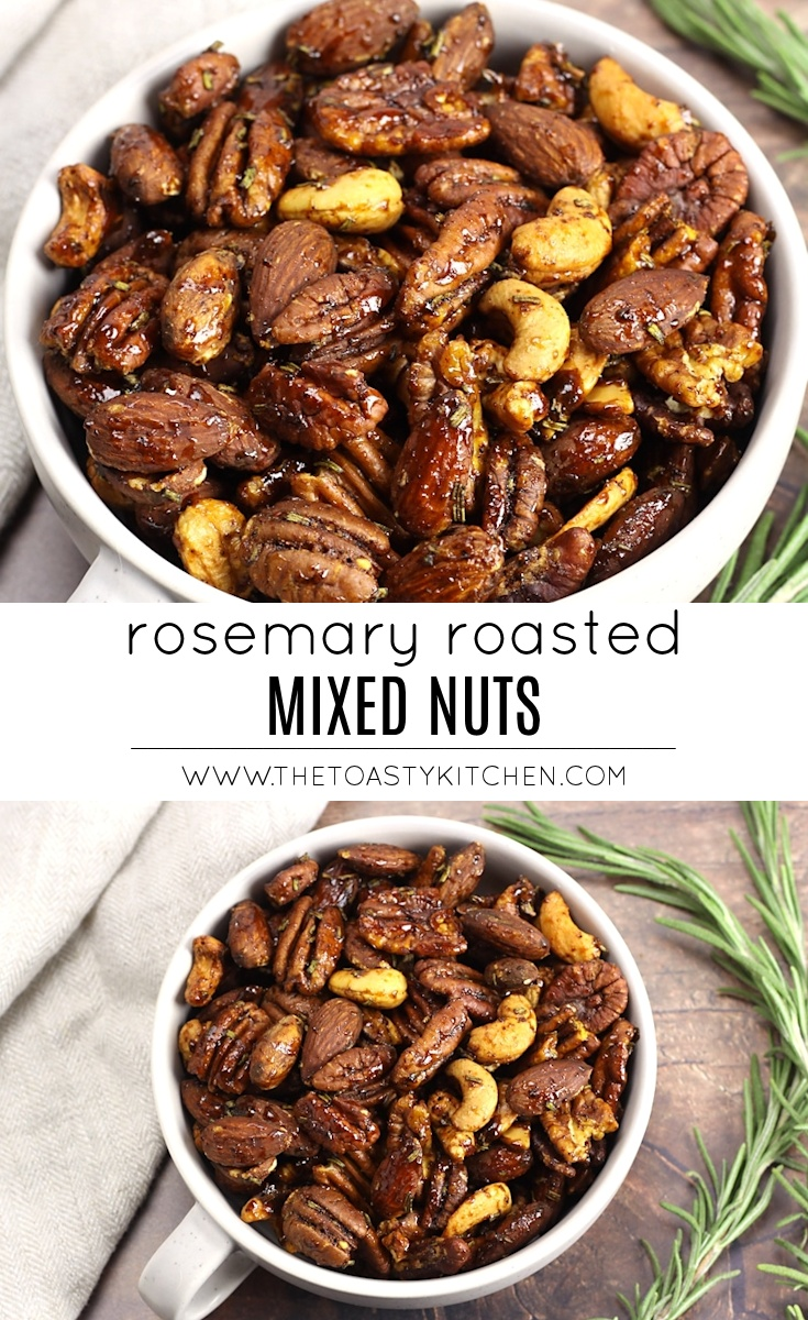 Rosemary Roasted Mixed Nuts by The Toasty Kitchen