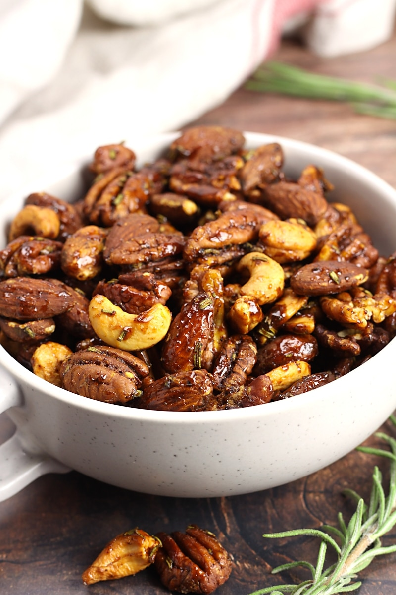 Cashews, pecans, and almonds coated in a maple glaze.