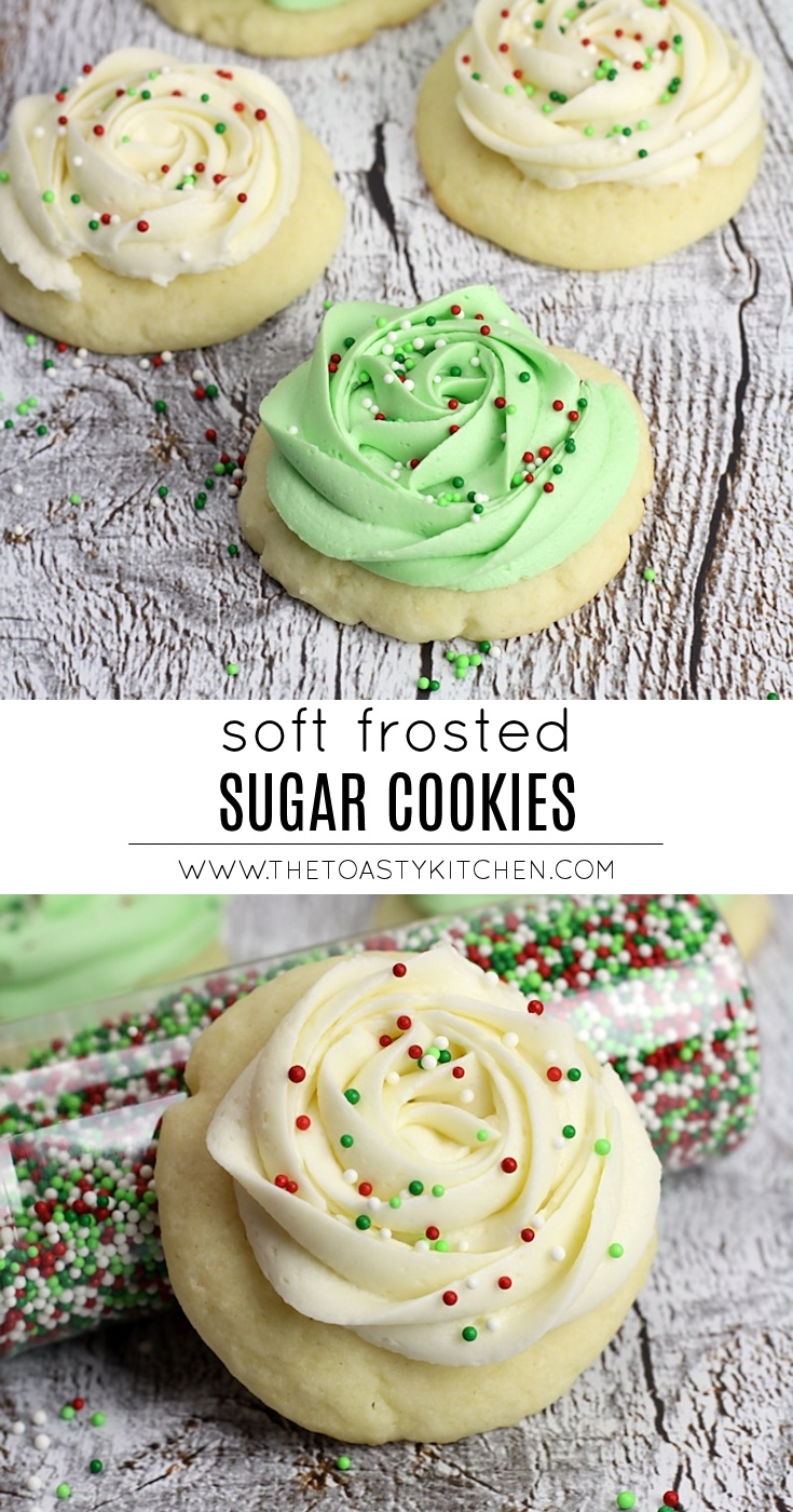 Soft Frosted Sugar Cookies by The Toasty Kitchen