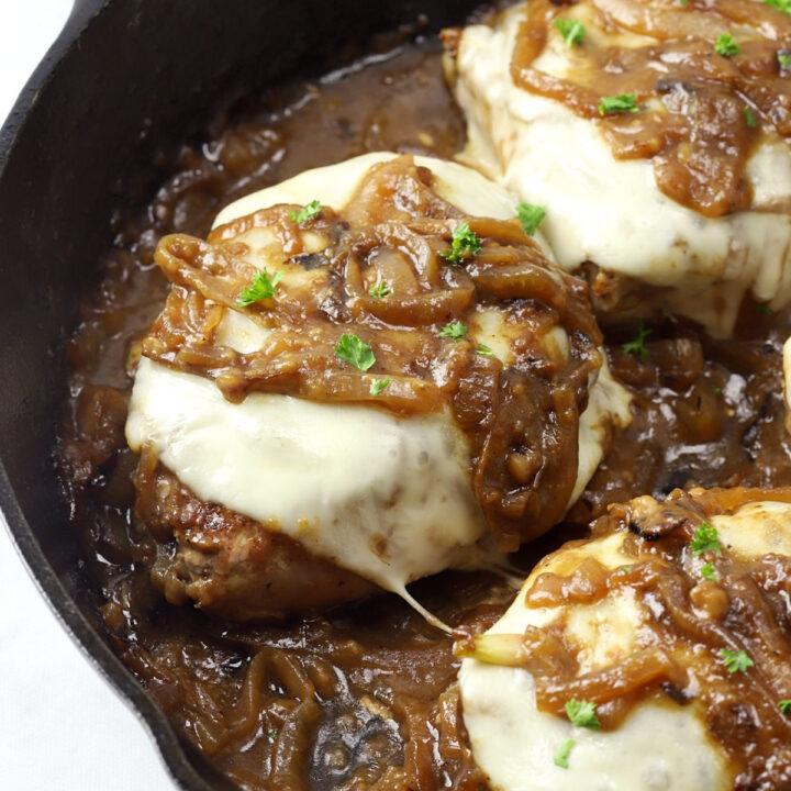 French onion pork chops recipe.