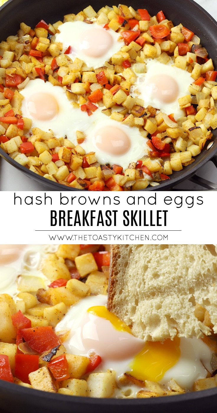 Hash Browns and Eggs Skillet by The Toasty Kitchen
