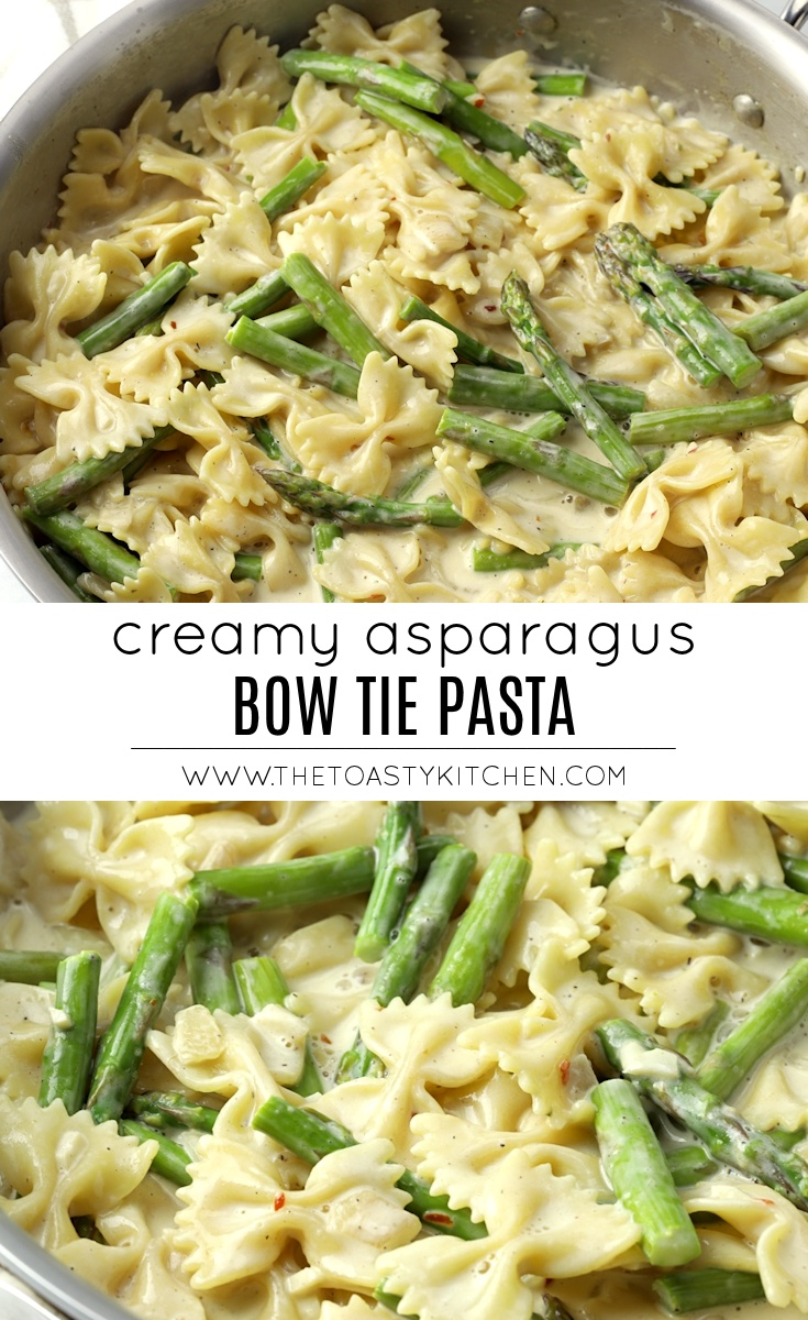 Creamy Asparagus Bow Tie Pasta by The Toasty KItchen