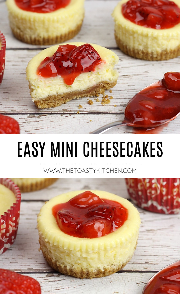 Easy mini cheesecakes recipe.