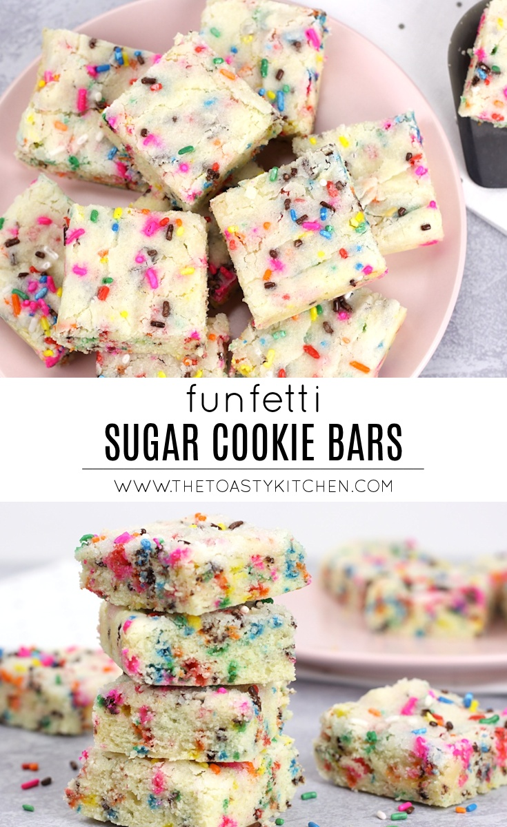 Funfetti Sugar Cookie Bars by The Toasty Kitchen