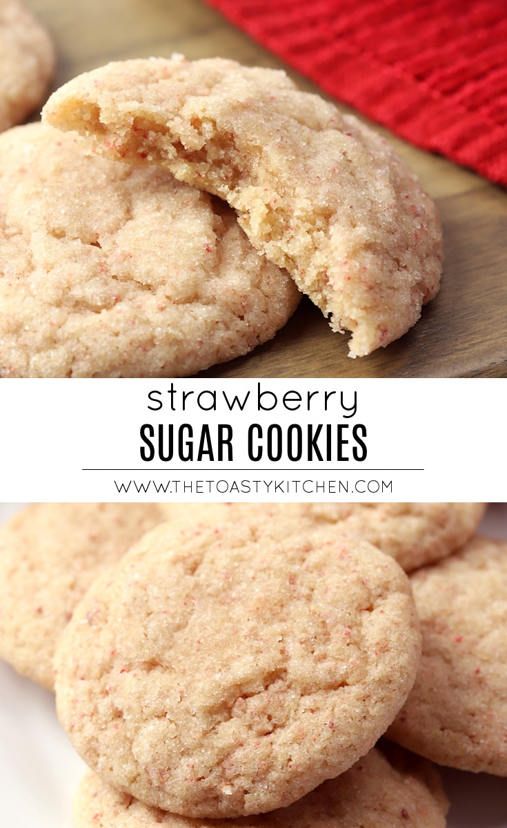 Strawberry Sugar Cookies by The Toasty Kitchen