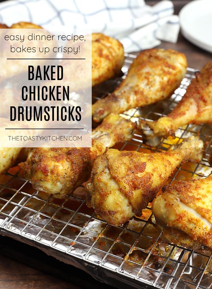 Baked chicken drumsticks recipe.