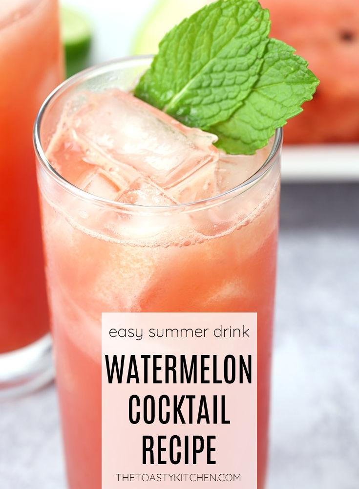 Watermelon cocktail recipe.