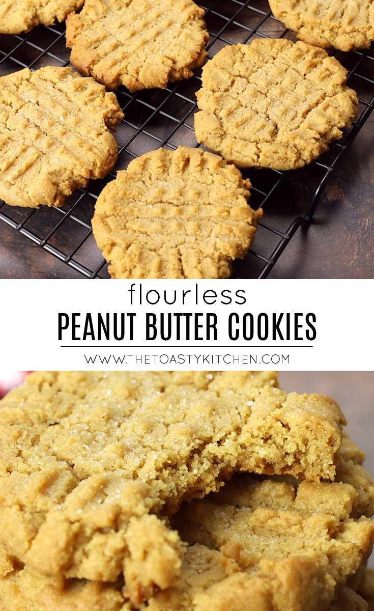 Flourless Peanut Butter Cookies by The Toasty Kitchen