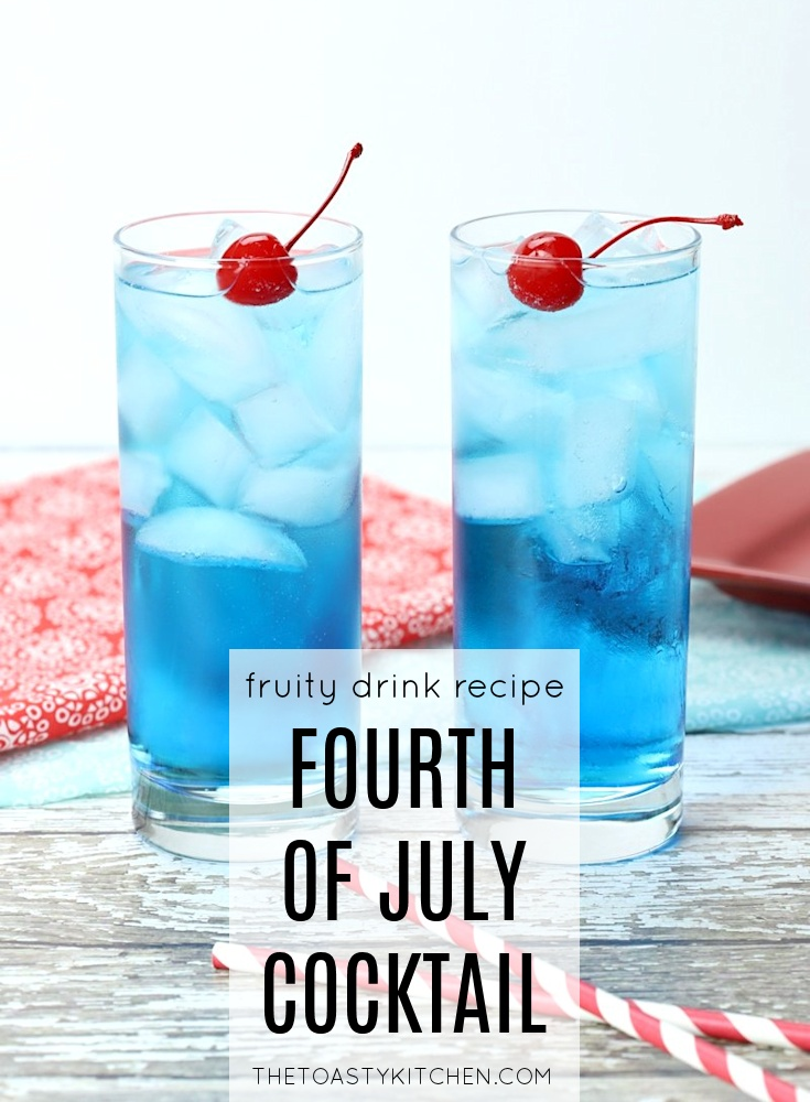 Fourth of July Cocktail by The Toasty Kitchen