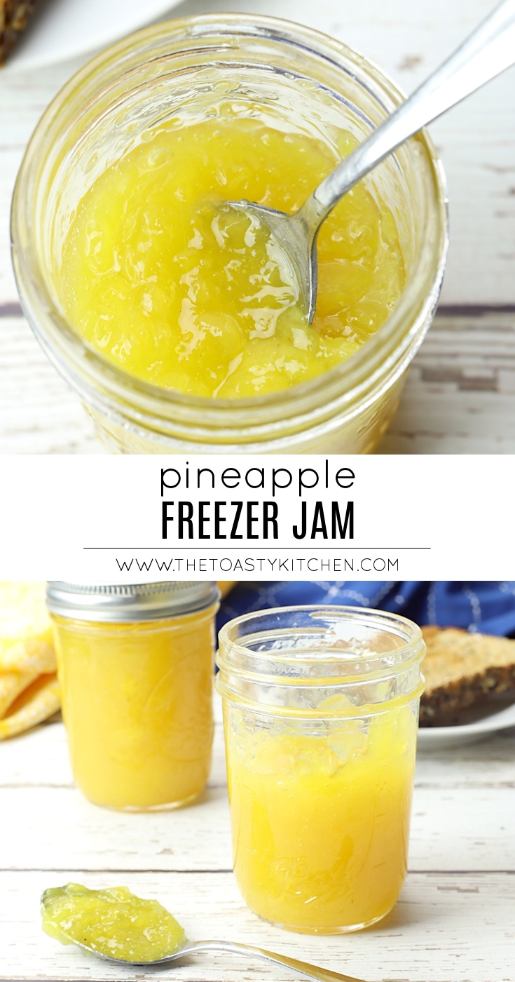 Pineapple Freezer Jam by The Toasty Kitchen