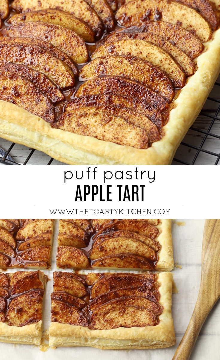 Puff Pastry Apple Tart by The Toasty Kitchen