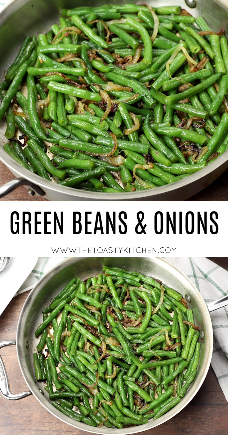 Green beans & onions recipe.