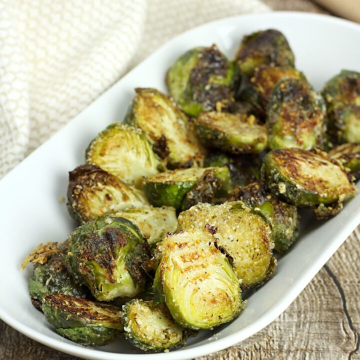 Oven roasted brussels sprouts recipe.