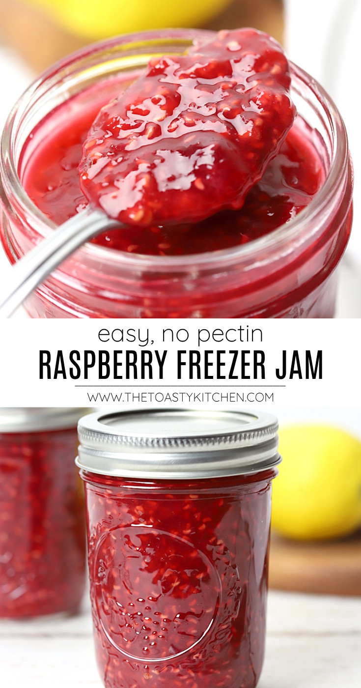 Raspberry freezer jam recipe.