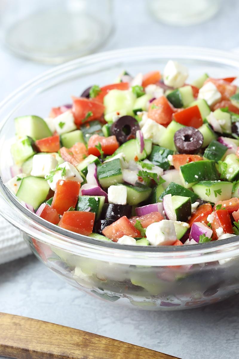 Shepherd's Salad ready to serve.